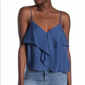 Lush sea blue layered camisole